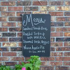 chalkboard menu kitchen organizer use basic wood sand down edges