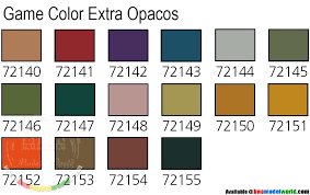 vallejo game colour paint set extra opaque 16 x 17ml