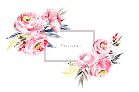 The Pink Peonies by Watercolor Pink Peonies By Watercolors Design Bundles