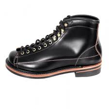 shop for wireman mens black coloured lone wolf boots