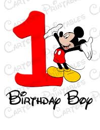 mickey mouse birthday mickey mouse birthday boy image printable clip iron on