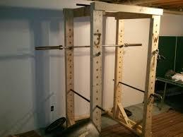 Garage Gym Design Homemade Wooden Power Rack Power Rack Gym And Gym Stuff