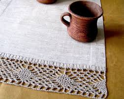 Kitchen Table Runners by Wedding Table Runner Dining Table Runner Lace Tablecloth Linen