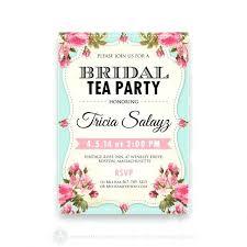 bridal brunch shower invitations wedding shower tea party invitations printable bridal shower