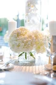 White Hydrangeas White Hydrangeas In Clear Glass Vase Elizabeth Anne Designs The
