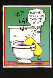 newyears cards resolution toilet box of 12 humorous new year s cards by