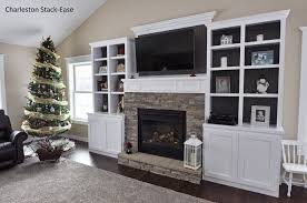 stoned fireplace with built ins charleston stack ease j u0026n stone