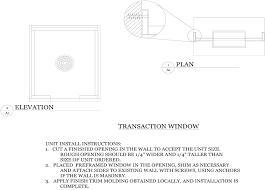 window in plan installing a bullet proof transaction window tss bulletproof