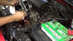 jeep liberty water pump replace youtube