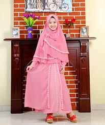 Baju Muslim Dewasa Ukuran Kecil model baju gamis anak terbaru untuk lebaran tahun 2017