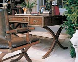 Campaign Desk Antique Great Office Writing Desk High End English Antique Reproduction