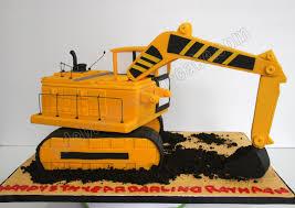 celebrate with cake excavator cake