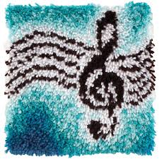 Latch Hook Rugs For Sale Amazon Com Wonderart Treble Clef Latch Hook Kit 12