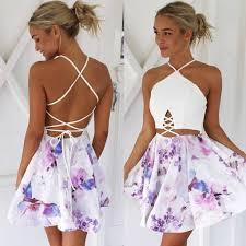 backless dress backless print sleeveless dress meetyoursfashion