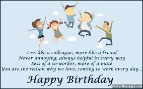 nice colleague birthday wishes greetings card message images