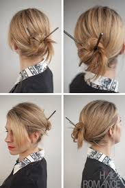 chopstick hair hair 30 buns in 30 days day 17 chopstick bun