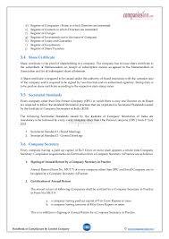 handbook regulatory compliances by company after incorporation