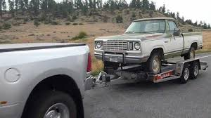 2011 dodge ram 3500 mega cab towing a 1978 dodge power wagon youtube