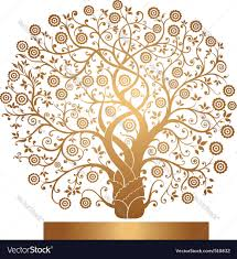 gold tree royalty free vector image vectorstock