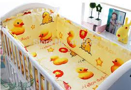 Duck Crib Bedding Set 100 Cotton Yellow Baby Bedding Set Yellow Duck Baby Bumpers 4 5 6