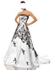 schwarz weiãÿ brautkleid heine hochzeitskleid weiß schwarz 36 ebay