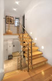 metal landing banister and railing awesome straight staircase with landing decor combined solid wood