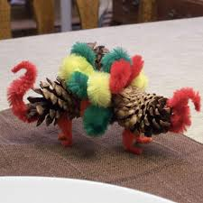 how to make a pine cone turkey thanksgiving crafts