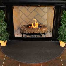 4 u0027 half round charcoal guardian fireplace rug northline express
