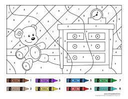printable color number coloring pages kids spanish