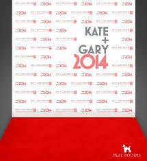 Wedding Backdrop Banner Elegant Red Carpet Logo Backdrop 77 For Custom Logo Design With