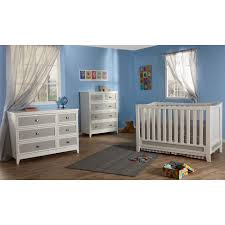 pali treviso two tone 5 drawer dresser in white grey free shipping