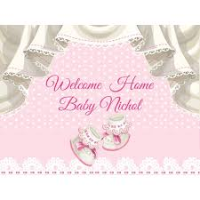 welcome home baby shower large welcome home baby banner baby shower banner baby girl