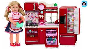 18 inch doll kitchen furniture doll sizeour generation gourmet kitchen set