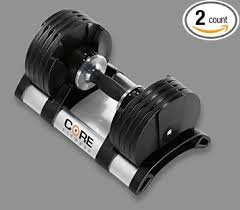 Adjustable Dumbbell Weight Bench Amazon Com Adjustable Dumbbell Weight Set By Core Fitness