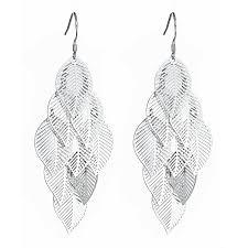 fashion earrings silver leaf fashion earrings