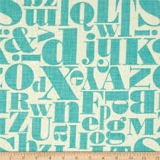michael miller just my type letterpress teal from fabricdotcom