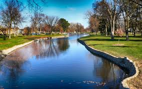 Outside Pool Free Images Tree Nature Lawn Lake River Canal Reflection