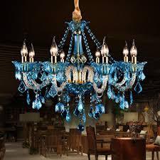 blue crystal chandelier light italy vintage blue crystal chandelier led colored cafe bar light