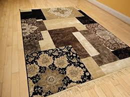Black Modern Rugs Luxury Silk Area Rugs 5x8 Modern Rug For Living Room