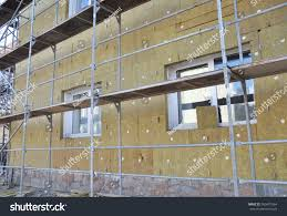 external wall insulation solid wall insulation stock photo