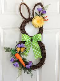 easter bunny wreath carrot grapevine bunny wreath easter wreath grapevine rabbit wreath