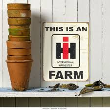 international harvester ih logo metal sign farming signs