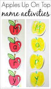 apples up on top name activities