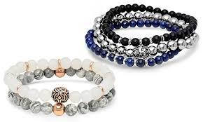 bracelet sets up to 73 on men s beaded bracelet set groupon goods