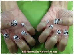 pearlyn u0027s exotic zebra nails nails obsession