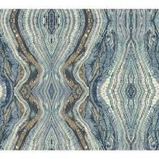 blue kaleidoscope wallpaper antonina vella blue kashmir kaleidoscope wallpaper york