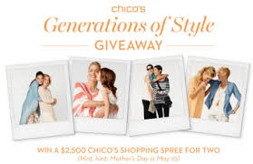 chicos gift cards chico s generations of style giveaway sweepstakes win 2 500
