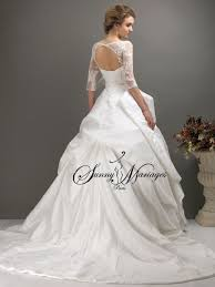 robe de mariã e princesse dentelle robe de mariee princesse en taffetas et dentelle avec manches