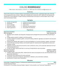 executive assistant resume template executive assistant free