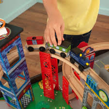 super highway train set and table